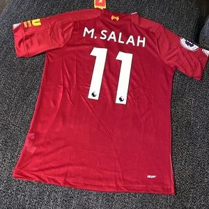 Liverpool M. Salah soccer jersey
